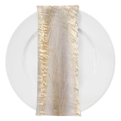 Crush Shimmer (Galaxy) Table Napkin in Ivory 18