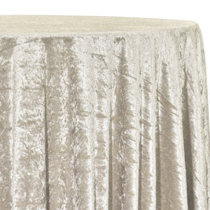 Panne (Crush) Velvet Table Linen in Ivory