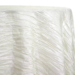 Accordion Taffeta Table Linen in Ivory