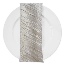 Accordion Taffeta Table Napkin in Ivory