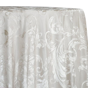 Victorian Jacquard Sheer Table Linen in Ivory