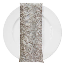 Lush Chiffon (w/ Poly Lining) Table Napkin in Ivory