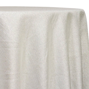 Metallic Burlap (100% Polyester) Table Linen in Ivory
