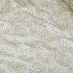 Dahlia Sequins (w/ Poly Lining) Table Napkin in Ivory