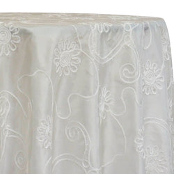 Eyelash Embroidery Table Linen in Ivory