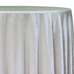 Lush Velvet Table Linen in Ivory