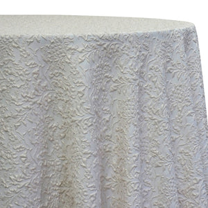 Lucia Jacquard Table Linen in Ivory