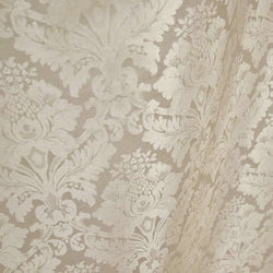 Damask Polyester Table Napkin in Ivory