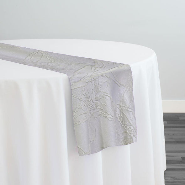 Floral Reef Jacquard Table Runner in Ivory