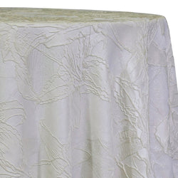 Floral Reef Jacquard Table Linen in Ivory