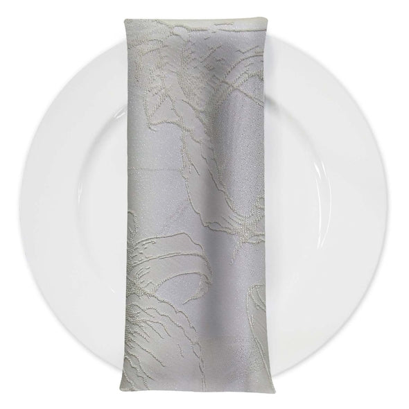 Floral Reef Jacquard Table Napkin in Ivory
