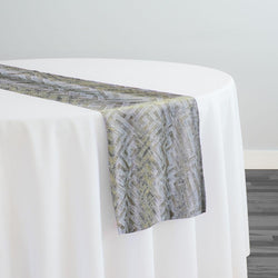 Gio Jacquard Table Runner in Ivory