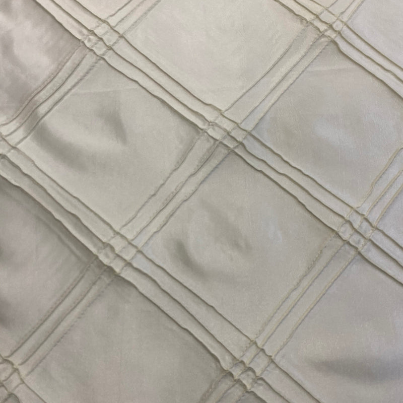 Triple Pleat Pintuck Wholesale Fabric in Ivory