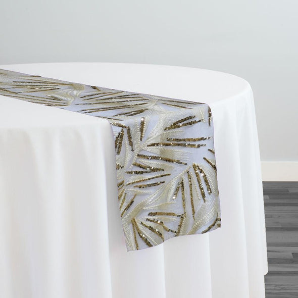 Sparkle Sequins Table Runner in Ivory