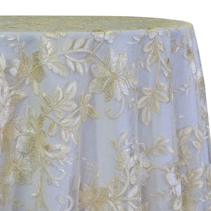 Claire Lace Table Linen in Ivory