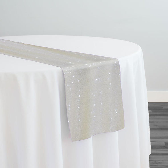 Glitz Sequins Table Runner in Ivory