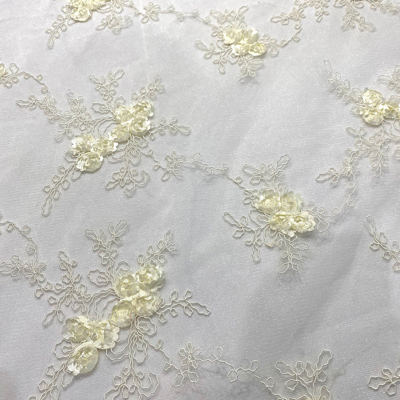 Baby Rose Embroidery (w/ Poly Lining) Table Napkin in Ivory