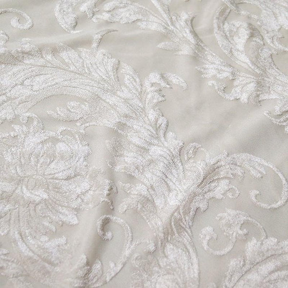 Victorian Jacquard Sheer Table Runner in Ivory