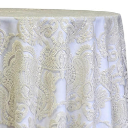 Princess Lace Table Linen in Ivory
