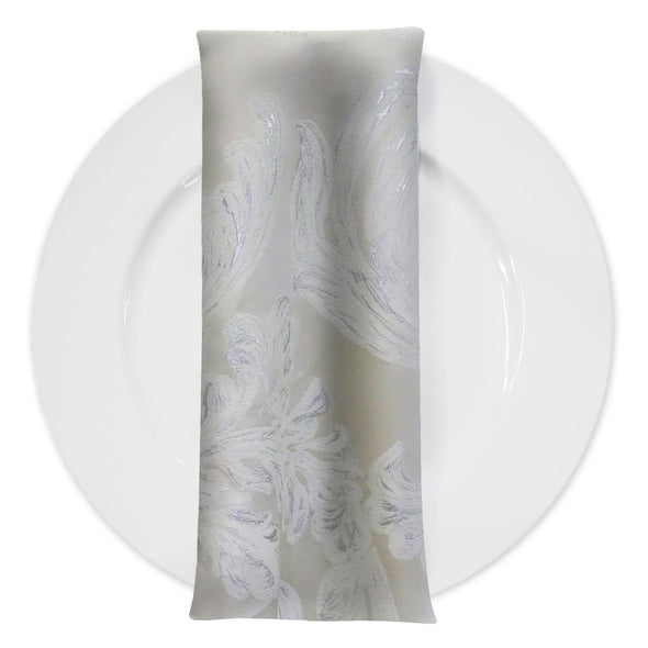 Florence Jacquard Table Napkin in Ivory