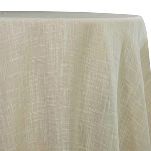 Poly Slub Table Linen in Ivory