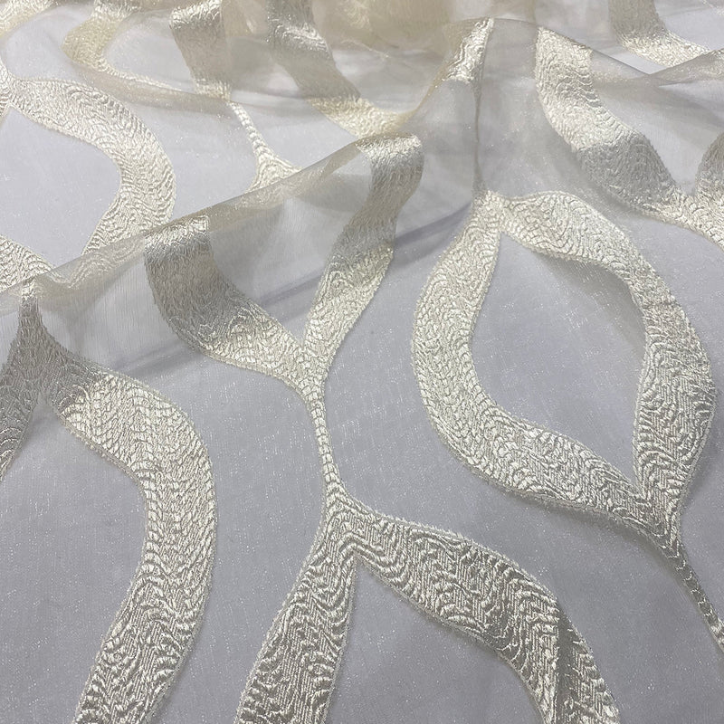 Tabriz Organza Table Runner in Ivory