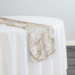 Belly Button (Pinwheel) Table Runner in Ivory