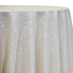 Taffeta Sequins Table Linen in Ivory