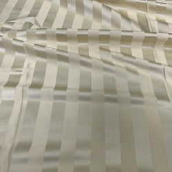 Imperial Stripe Table Linen in Ivory