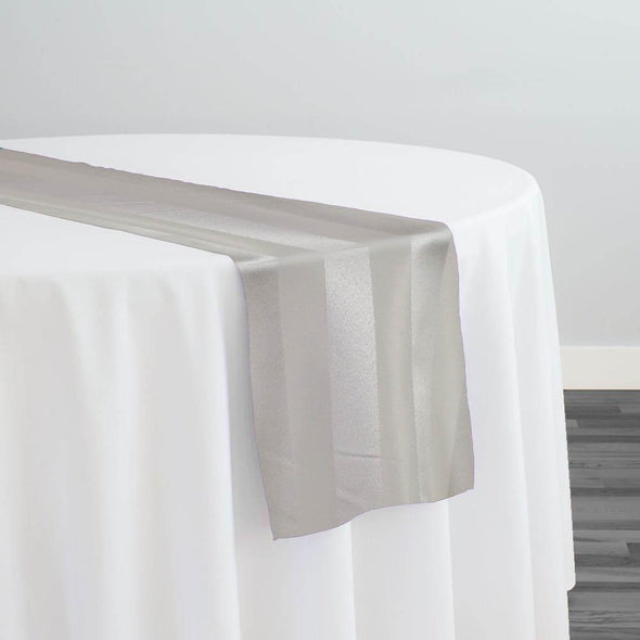 Imperial Stripe Table Runner in Ivory