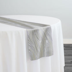 Allure Jacquard Table Runner in Ivory