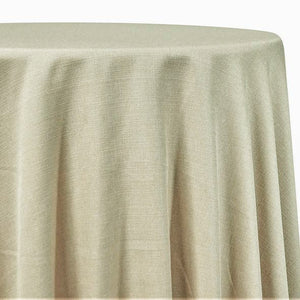 Rustic Linen Table Linen in Ivory