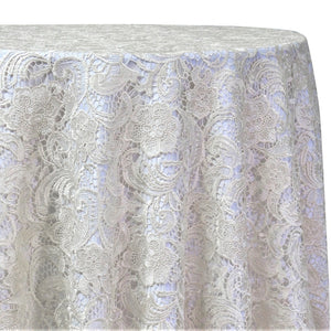 English Lace Table Linen in Ivory