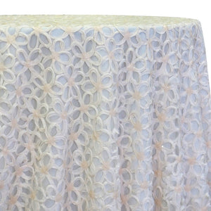 Daisy Sequins Table Linen in Ivory