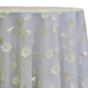 Lily Petal Table Linen in Ivory