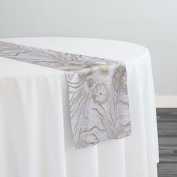 Marigold Sequins Table Runner in Ivory