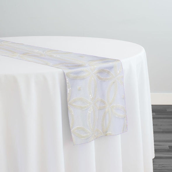Delano Sequins Table Runner in Ivory