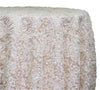 "Patina Sheer - Ivory 120"" Round Wedding Tablecloth"