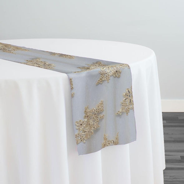 Venetian Lace Table Runner in Ivory