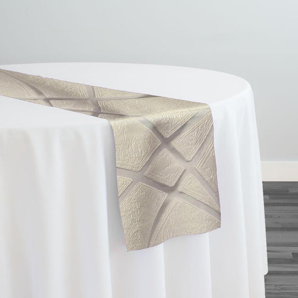Atlas Sheer Table Runner in Ivory