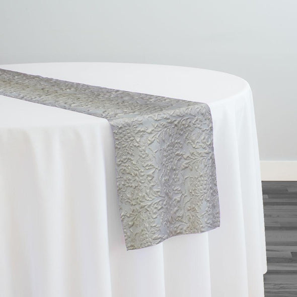 Lucia Jacquard Table Runner in Ivory