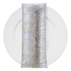 English Lace (w/ Poly Lining) Table Napkin in Ivory