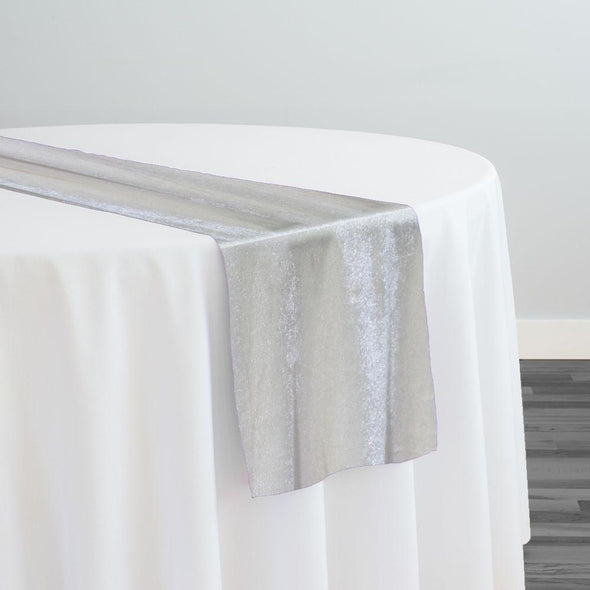 Lush Velvet Table Runner in Ivory