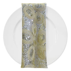 Sienna Design (w/ Poly Lining) Table Napkin in Ivory