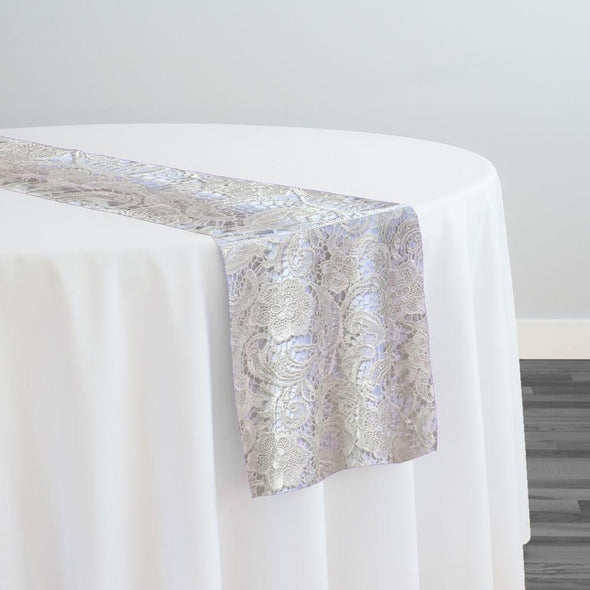 English Lace Table Runner in Ivory