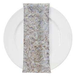Patina Sheer (w/ Poly Lining) Table Napkin in Ivory