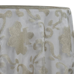 Fleur De Lis Table Linen in Ivory