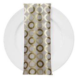 Mosaic (Double-Sided) Table Napkin in Ivory and Gold