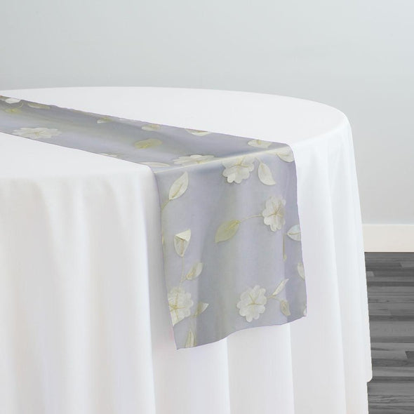 Lily Petal Table Runner in Ivory