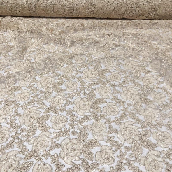 Valentina Lace Table Runner in Ivory